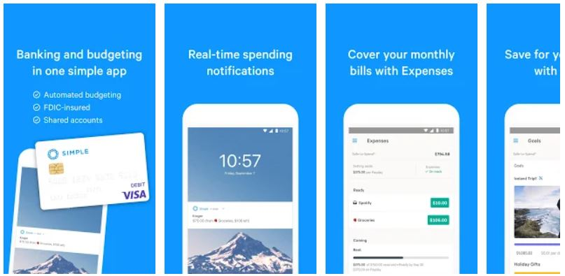 Simple - Mobile Banking and Budgeting App